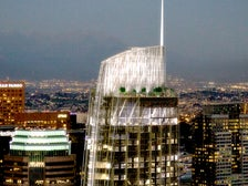 Rendering of Wilshire Grand Center at night