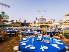 Dinner tables at Dodgers All-Access 2015