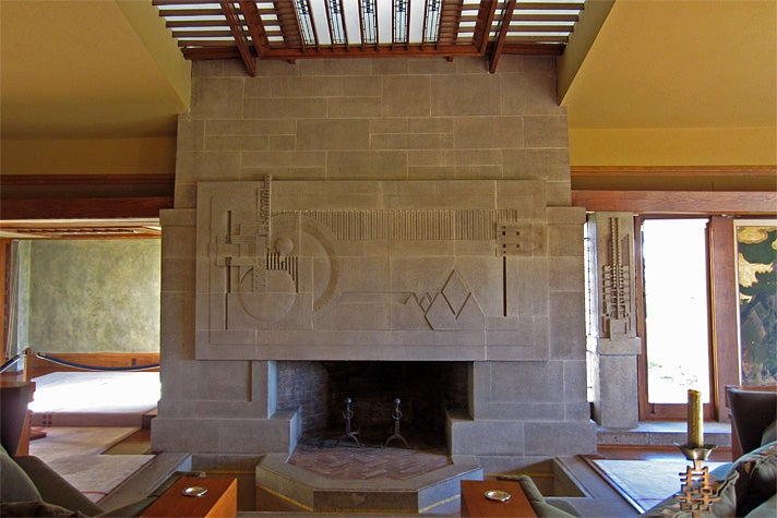 FIreplace at Hollyhock House