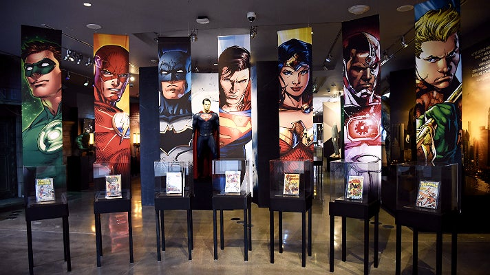 """Origins of the Justice League from """"DC Universe"""" at Warner Bros. Studio Tour Hollywood"""
