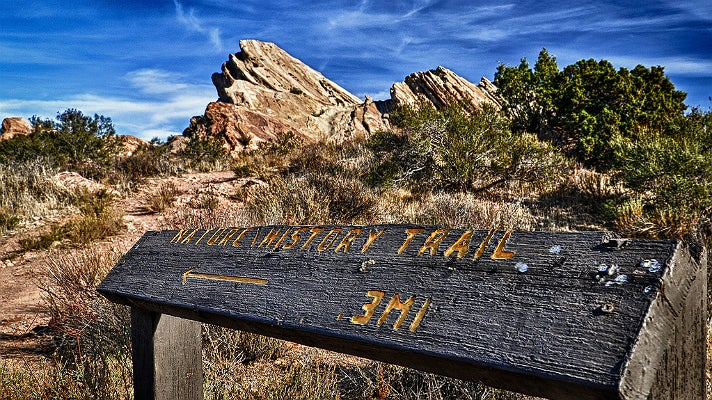 Trailhead at Vasquez Rocks
