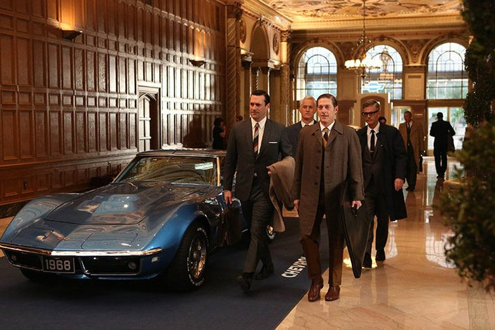 "The Galleria at the Millennium Biltmore stands in for the Chevrolet lobby in the ""Mad Men"" Season 6 episode, ""For Immediate Release."""