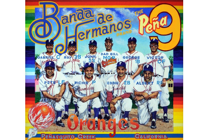 "Ben Sakoguchi, ""Banda de Hermanos Brand,"" 2008. Acrylic on canvas."