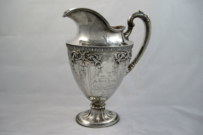 "Ewer presented to Barney Dreyfuss, from ""Chasing Dreams"" at Skirball Cultural Center"