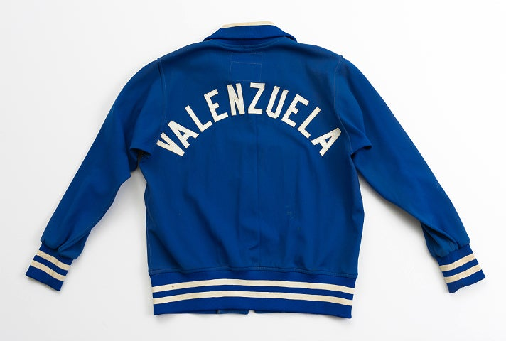 "Fernando Valenzuela's warm-up jacket from ""Chasing Dreams"" at Skirball Cultural Center"