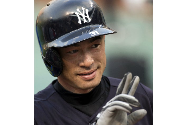 "Photo of Ichiro Suzuki from ""Chasing Dreams"" at Skirball Cultural Center"