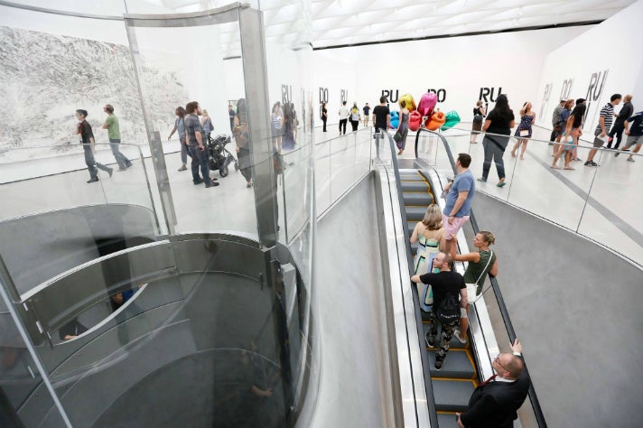 Entrance to third-floor galleries at The Broad