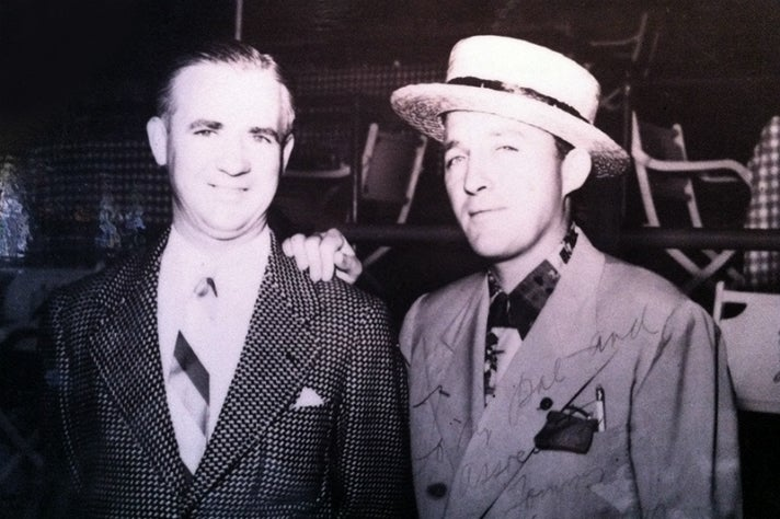 Tom Bergin and Bing Crosby at Del Mar in 1937