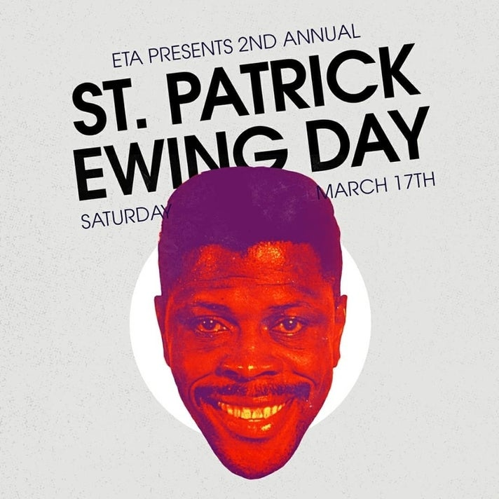 Second annual St. Patrick Ewing Day at ETA