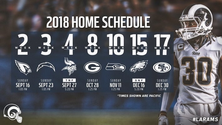 Los Angeles Rams 2018 home schedule