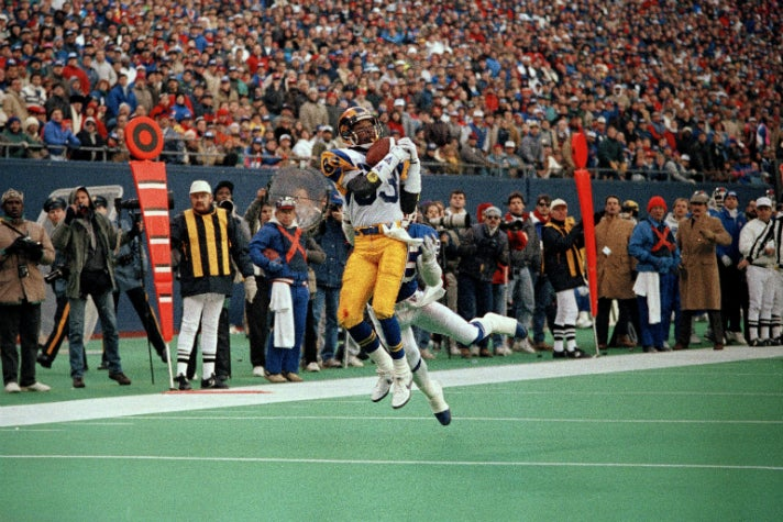 Flipper Anderson of the Los Angeles Rams scored the game winning touchdown against the New York Giants on Jan. 7, 1990