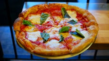 Margherita pizza at Stella Barra
