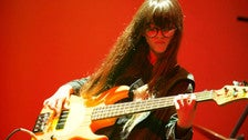 Bass player performs at Silverlake Conservatory of Music recital