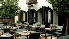 Patio at A.O.C. restaurant in Los Angeles