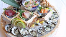 Oysters, sashimi and crab at Chaya Downtown Los Angeles