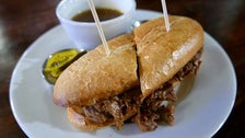 Pork French Dip at Harlowe's French Dip