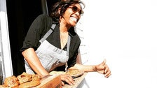 Chef Nyesha Arrington at Leona's cookie window