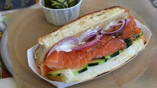Grav Lax sandwich at Olsons Scandinavian Deli