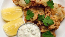 Crispy oysters with sauce gribiche at Tipple & Brine