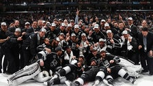 The Los Angeles Kings celebrate their 2014 Stanley Cup Championship