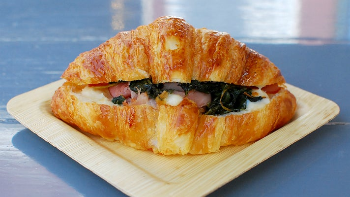 Ham and cheese croissant at Farmshop