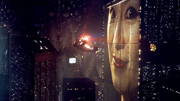 "Spinner in a scene from ""Blade Runner"" (1982)"