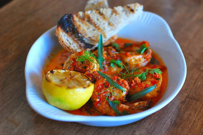 California prawns scampi at Rustic Canyon | Photo by Joshua Lurie