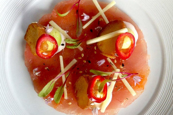 Tuna carpaccio at Ditmas Kitchen and Cocktails