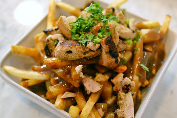 Chicken tikka poutine at Badmaash