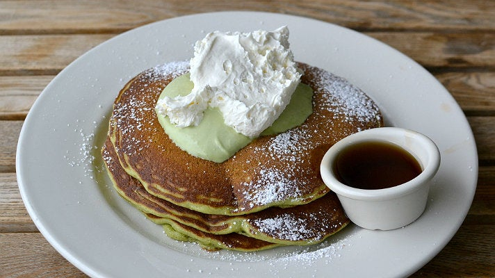 Green Tea Monster pancakes at Bea Bea's