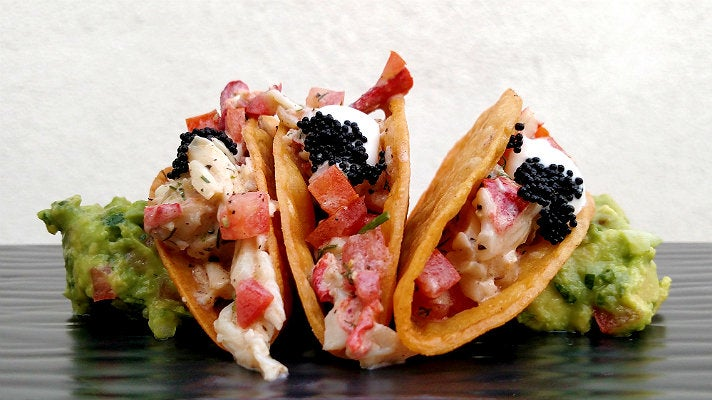 Lobster tacos at Cascabel