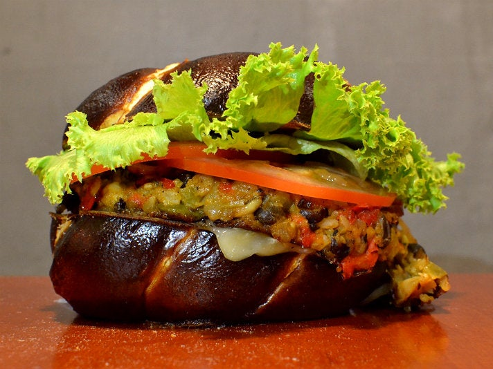 Veggie burger at Hole In the Wall Burger Joint