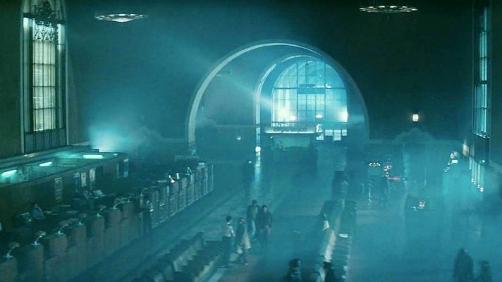 "The Ticket Concourse at Union Station is the police station in ""Blade Runner"" (1982)"