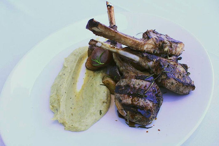 Roasted lamb chops at Nerano