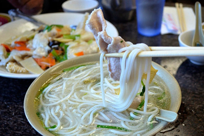 """Crossing Over Bridge"" noodles at Yunnan Restaurant"
